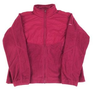 COLUMBIA full zip up polyester fleece jacket coat